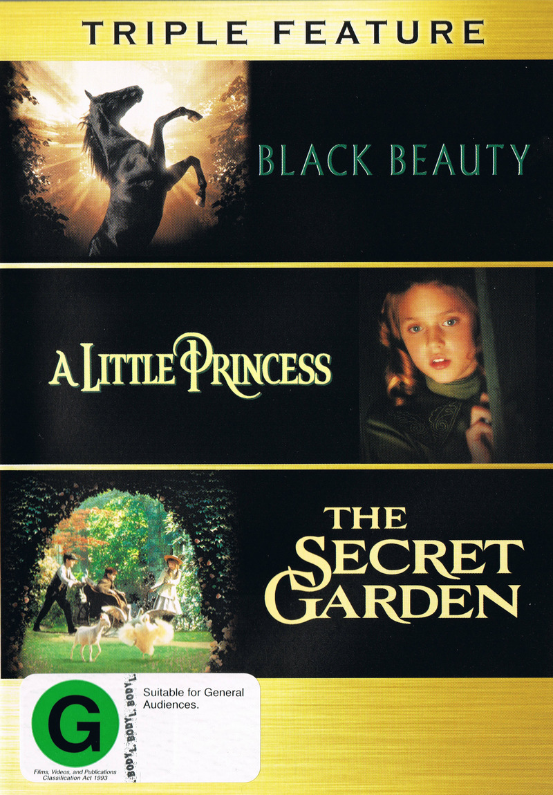 Black Beauty (1994) / A Little Princess / Secret Garden (1993) - Triple Feature (3 Disc Set) on DVD image