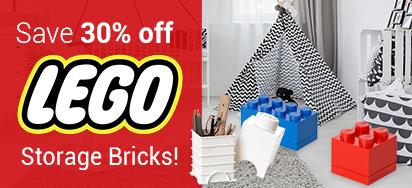30% OFF LEGO Storage Bricks!