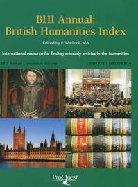 Bhi Annual: British Humanities Index by British Library image