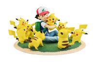 Pokemon: G.E.M. Figure Diorama - Ash & Pikachu (Many Pikachu Ver.)