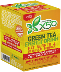 Green Tea X50 - Tropical (30 Sachets)