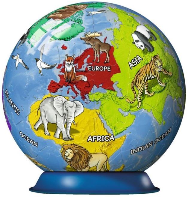 Ravensburger : Children's Globe Puzzleball 72pc
