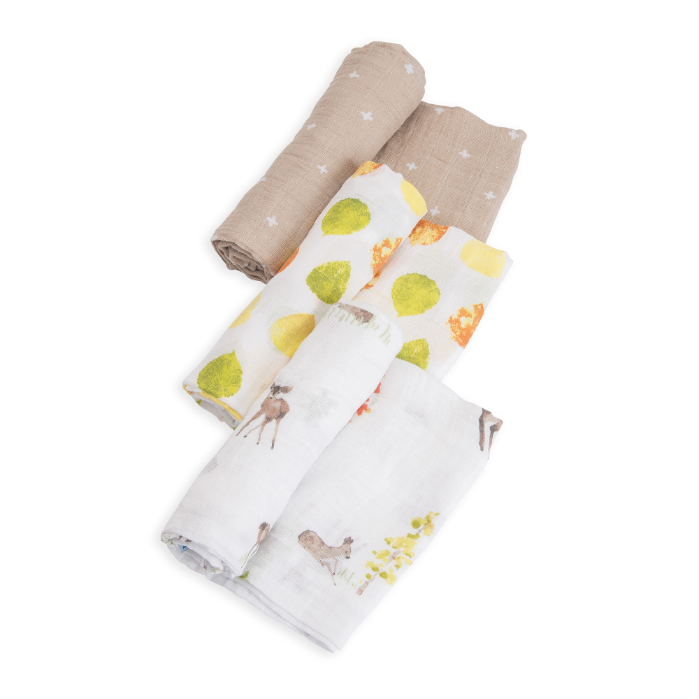 Little Unicorn - Cotton Muslin Swaddle - Oh Deer (3 Pack) image
