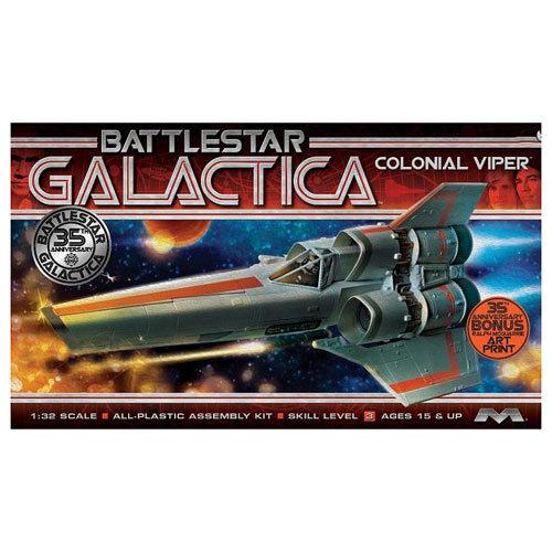 Battlestar Galactica Original Mark I Viper Model Kit 1:32 Scale - by Moebius image