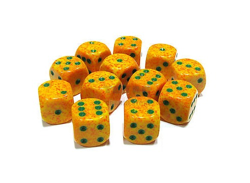 Chessex: D6 Speckled Cube Set (12mm) - Lotus image