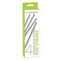 4pk Stainless Steel Straws - Mini Size
