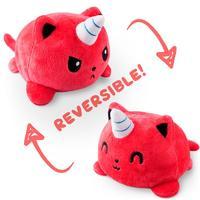 TeeTurtle: Reversible Mini Plush - Kittencorn (Red)