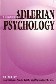 Techniques In Adlerian Psychology by Jon Carlson