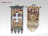 Tabletop-Art: Banners #1 - Parts Set
