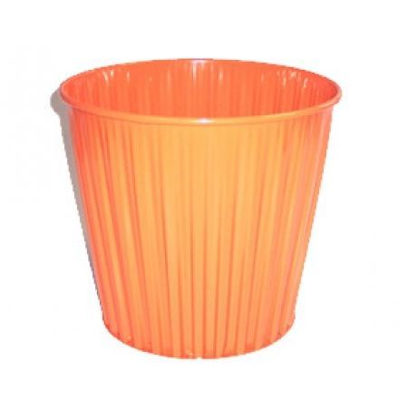 Fluteline Metal Bin - Orange