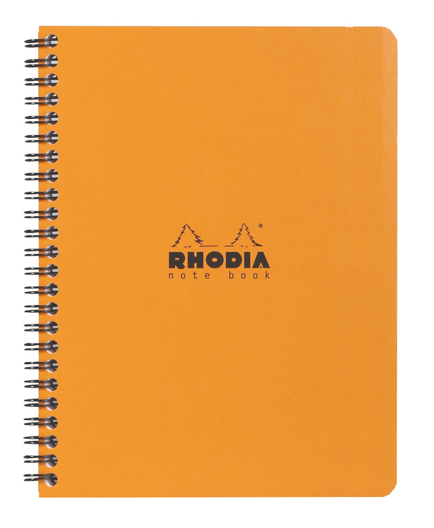 Rhodia Classic Notebook Wireb A5+ 80 Lined Sh - Orange