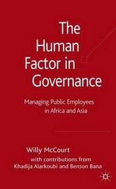 The Human Factor in Governance by Willy McCourt image