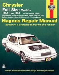 Chrysler Full-Size Front-Wheel Drive (88 - 93) by Larry Warren