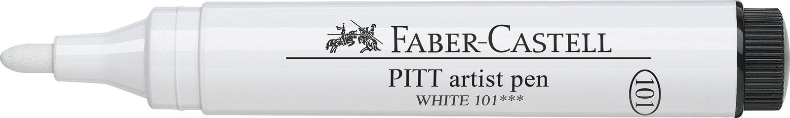 Faber-Castell: Pitt Artist Pen - White (2.5mm) image