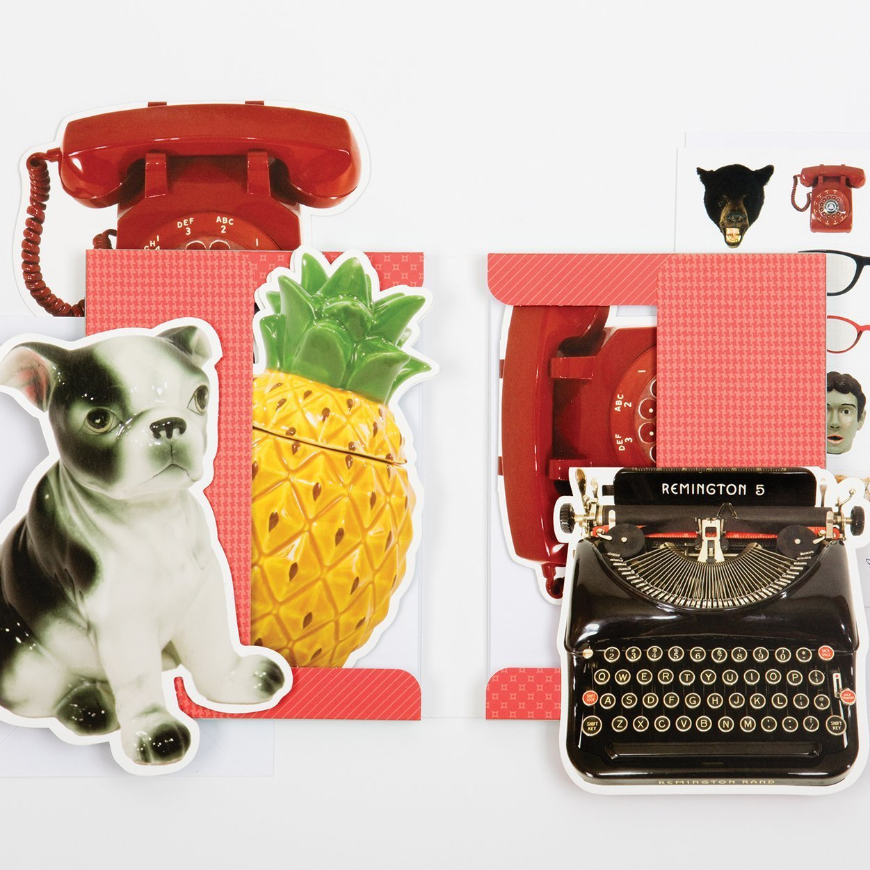 Galison: Shaped Portfolio Notecard - Phat Dog Vintage image