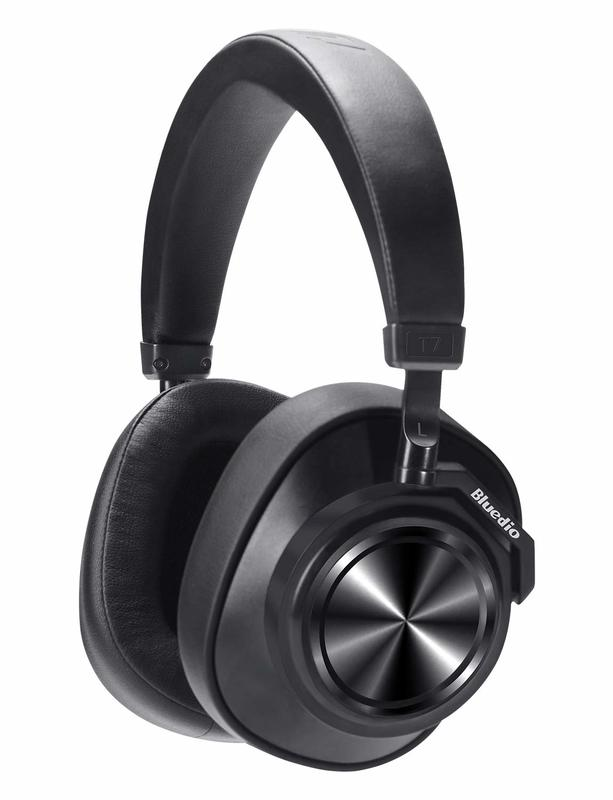 Bluedio T7 Bluetooth Custom Active Noise Canceling Over-Ear Headphones - Black