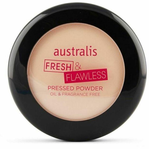Australis: Fresh & Flawless Pressed Powder - Light Beige