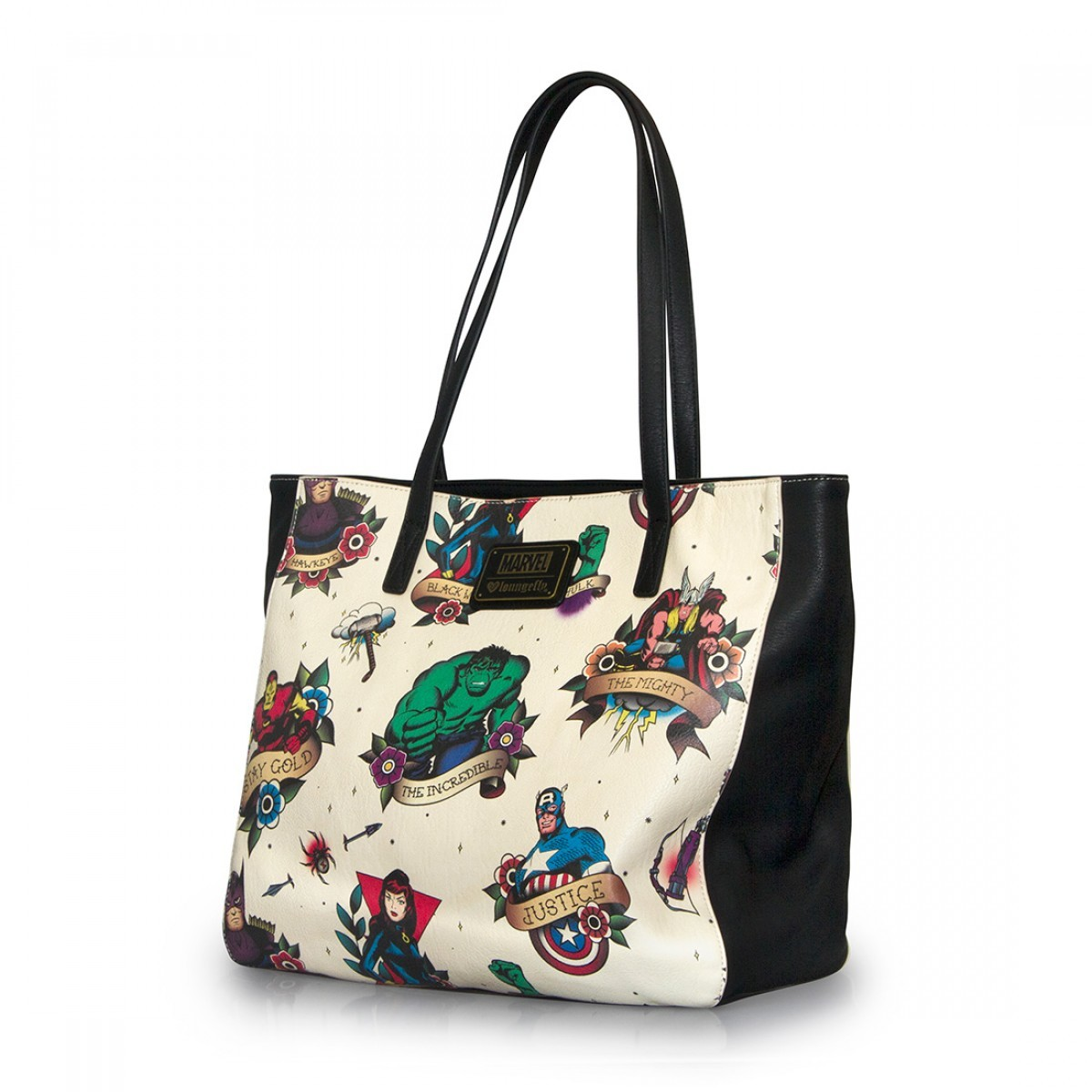 ... Loungefly Marvel Tattoo Flash Print Tote image ... b9c701015a8bd