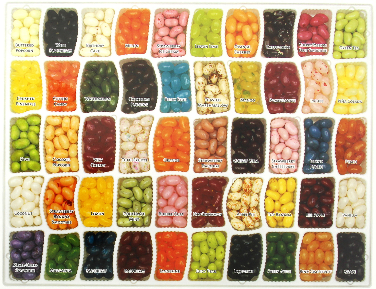 Jelly Belly 50 Assorted Flavours Gift Box 600g image