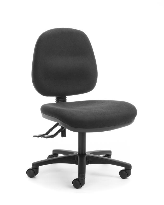 CS Alpha 3 Lever Mid Back Task Chair - Black