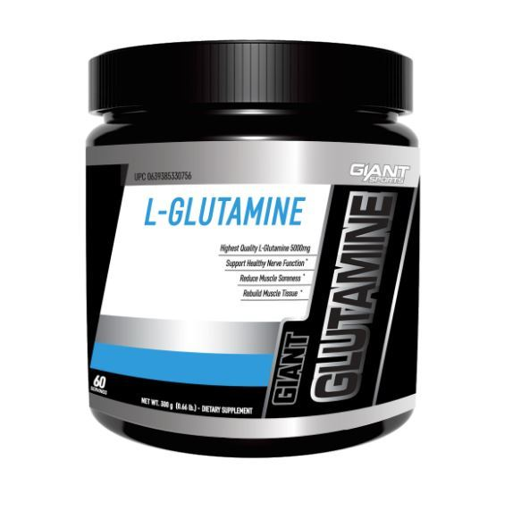 Giant Sports Micronized L-Glutamine - Unflavoured (300g/60 serves)