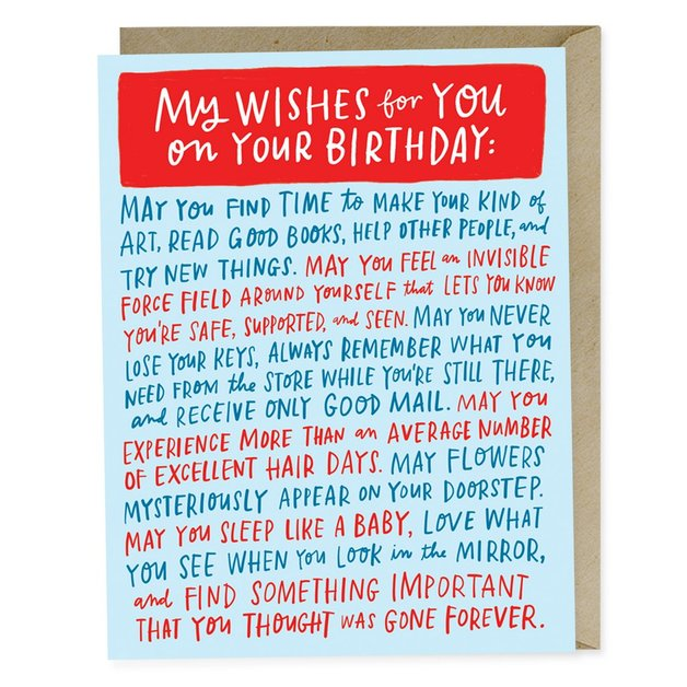 Emily McDowell: My Wishes For You On Your Birthday - Greeting Card