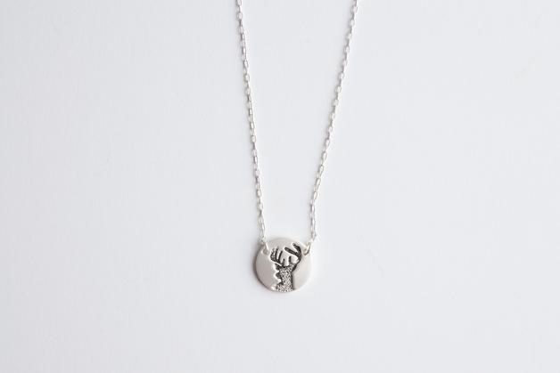 Stilen: Antler silver necklace