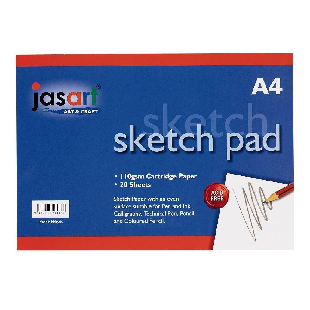 Jasart A4 Sketch Pad- Gummed image