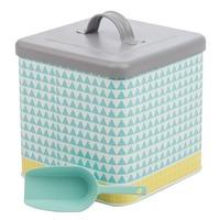 Urban Laundry Powder Container - Aqua/Yellow