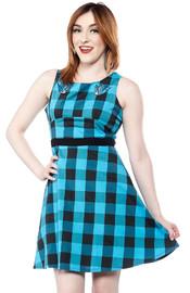 Sourpuss Swallows Buffalo Plaid Dress (Size 3X)