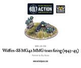 German Army - Waffen-SS MG42 MMG Team - Firing