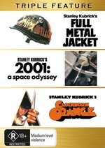 Full Metal Jacket / 2001 - A Space Odyssey / Clockwork Orange - Triple Feature (3 Disc Set) on DVD
