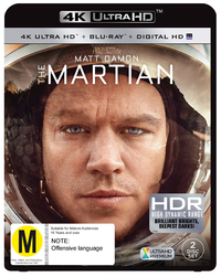 The Martian (4K UHD + UV + Blu-ray) DVD