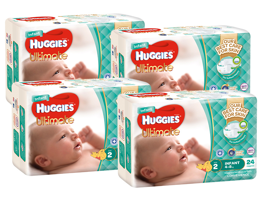 Huggies Ultimate Nappies Convenience Shipper - Infant 4-8kg (96) image