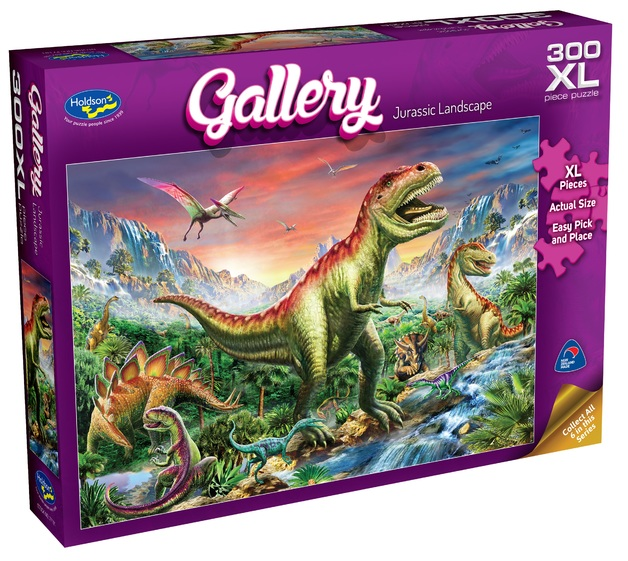 Holdson XL: 300 Piece Puzzle - Gallery S6 (Jurassic Landscape)