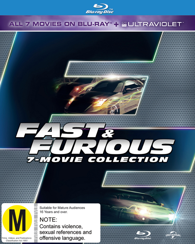 fast and furious 1 7 blu ray in stock buy now at mighty ape nz. Black Bedroom Furniture Sets. Home Design Ideas