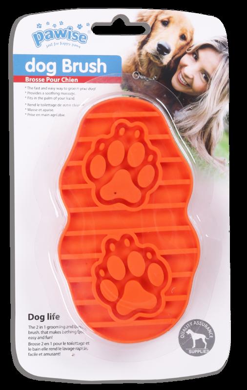 Pawise: Dog Palm Brush - 21x3.5 cm
