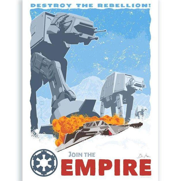Star Wars: Destroy The Rebellion - Silk Screen Art Print