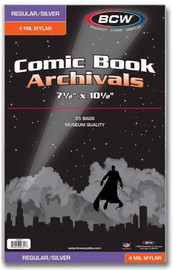 BCW: Comic Book - 4-mil Mylar Archivals (Regular/Silver)
