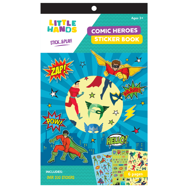 Little Hands: 6-Page Sticker Book - Comic Heroes (Assorted Designs)