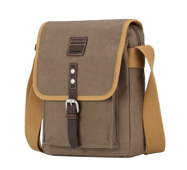 Troop London: Savanna Shoulder Bag - Washed Brown & Mustard