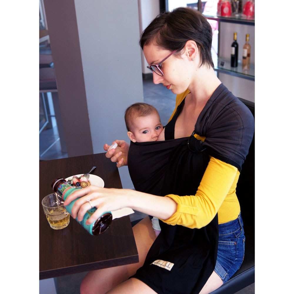 Wrap Without a Knot Ring Sling - Charcoal/Black image