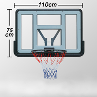 Ape Style Wall Mount Basketball Hoop System (110 x 75cm)