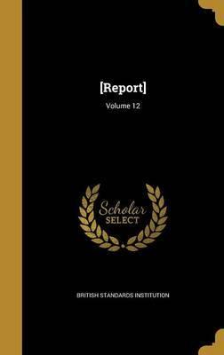 [Report]; Volume 12 image