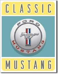Ford - Classic Mustang Retro Tin Sign