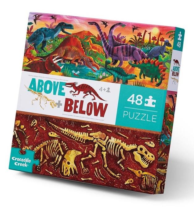 Crocodile Creek: Above & Below Puzzle - Dinosaur World
