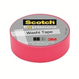Scotch Washi Craft Tape Pink 15mm x 10m