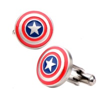Marvel: Captain America's Shield Men's Cufflinks