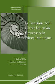 In Transition: Adult Higher Education Governance in Private Institutions
