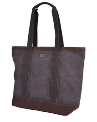 Troop London: Ascot Tote Bag - Black & Brown